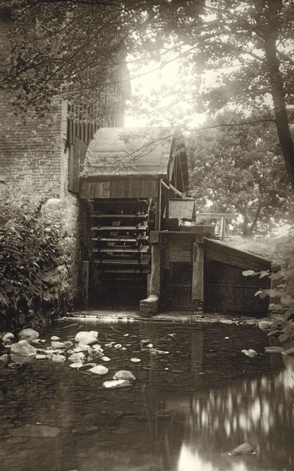 Die Wassermühle um 1930