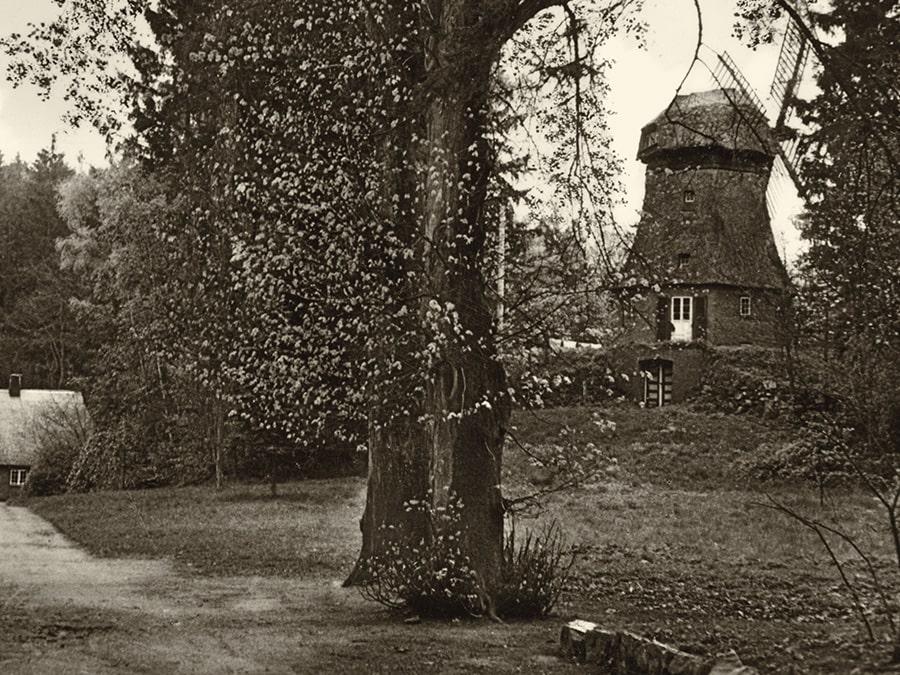 Eine Postkarte aus den 30er Jahren zeigt die Manhagener Wassermühle