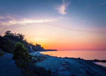 Abenddämmerung in der Strander Bucht