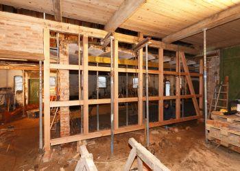 Innen wurde das Pächterhaus entkernt und bekam einen ganz neuen Grundriß.